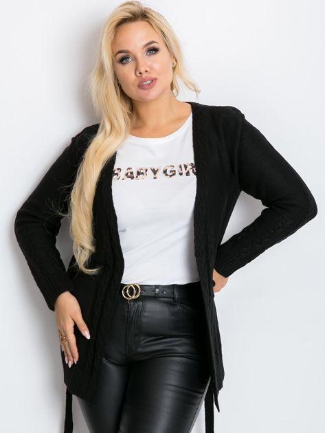 Czarny sweter plus size Vibe