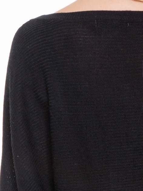 Czarny sweter z nietoperzowymi rękawami                                  zdj.                                  7