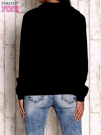 Czarny sweter z szerokim golfem                                  zdj.                                  4