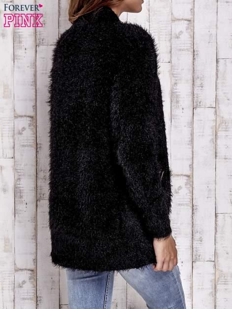 Czarny sweter ze złotymi suwakami                                  zdj.                                  4