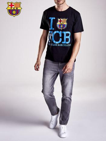Czarny t-shirt męski FC BARCELONA                                  zdj.                                  9
