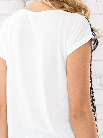 Czarny t-shirt w motyw pantery                                  zdj.                                  5