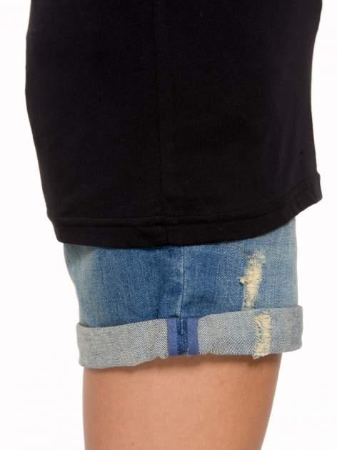Czarny t-shirt z nadrukiem numerycznym AZZEDINE 40 z tyłu                                  zdj.                                  8