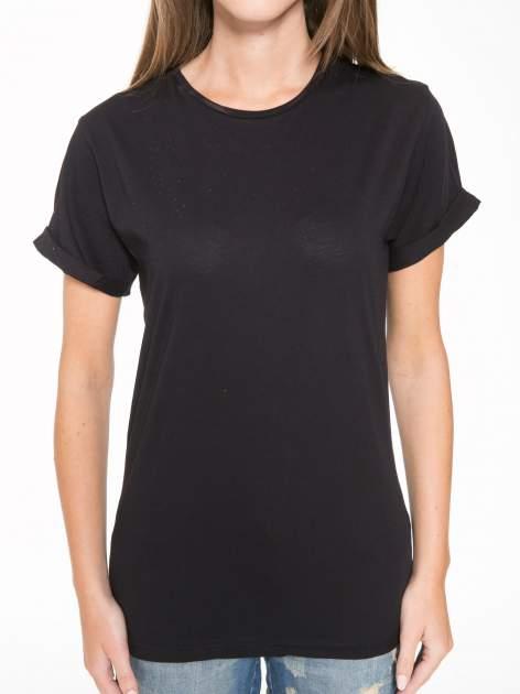 Czarny t-shirt z napisem MARGIELA 47 na plecach                                  zdj.                                  8