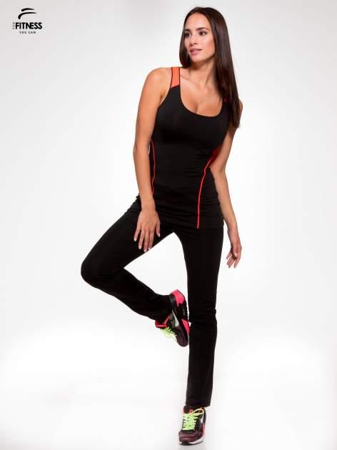 Czarny termoaktywny top sportowy z siateczką z tyłu i fluoróżowymi wstawkami ♦ Performance RUN                                  zdj.                                  5