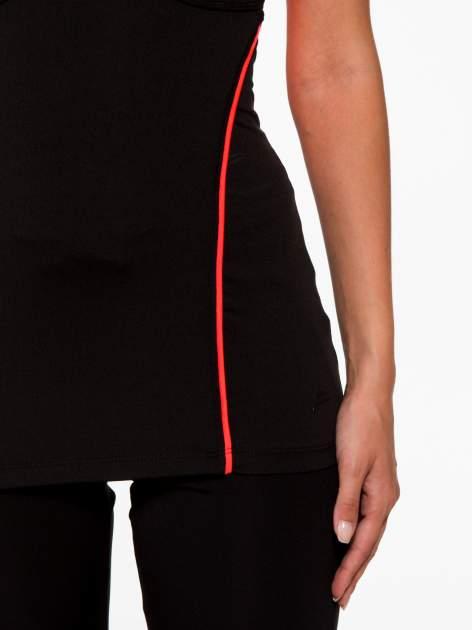 Czarny termoaktywny top sportowy z siateczką z tyłu i fluoróżowymi wstawkami ♦ Performance RUN                                  zdj.                                  7