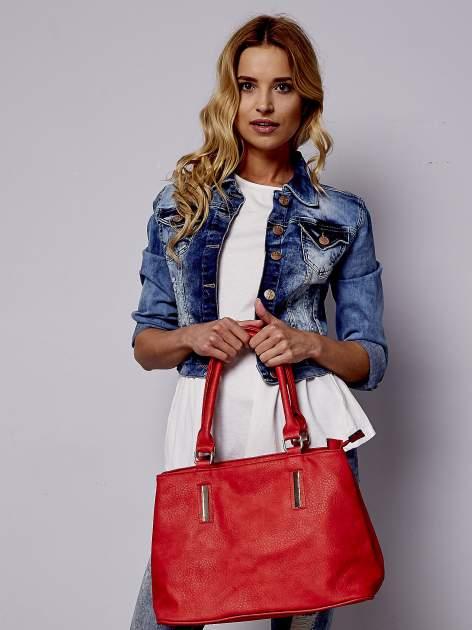 Czarwona torba miejska na ramię                                  zdj.                                  6