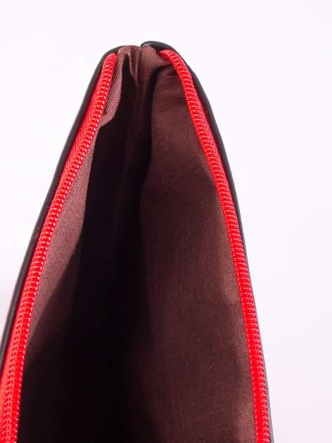 Czerwona ażurowana listonoszka                                  zdj.                                  5