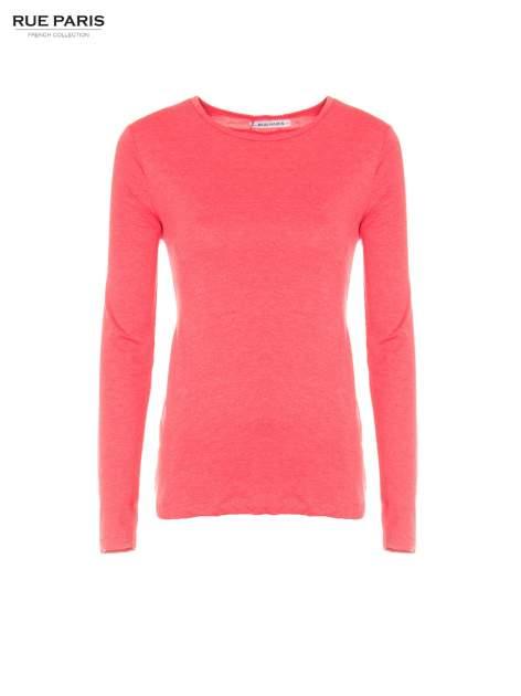Czerwona basicowa bluzka z długim rękawem                                  zdj.                                  4