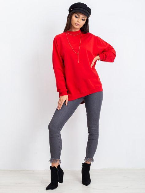 Czerwona bluza Twist                              zdj.                              4