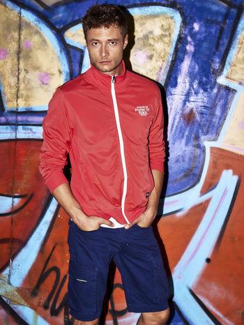 Czerwona bluza męska na suwak Funk n Soul