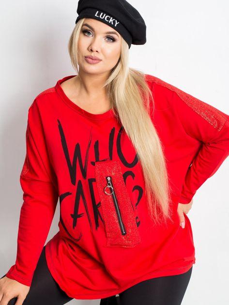 Czerwona bluza plus size Lounge                              zdj.                              5