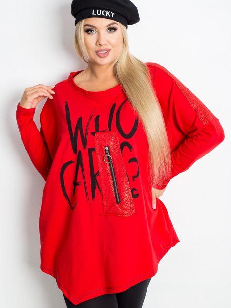 Czerwona bluza plus size Lounge                              zdj.                              1