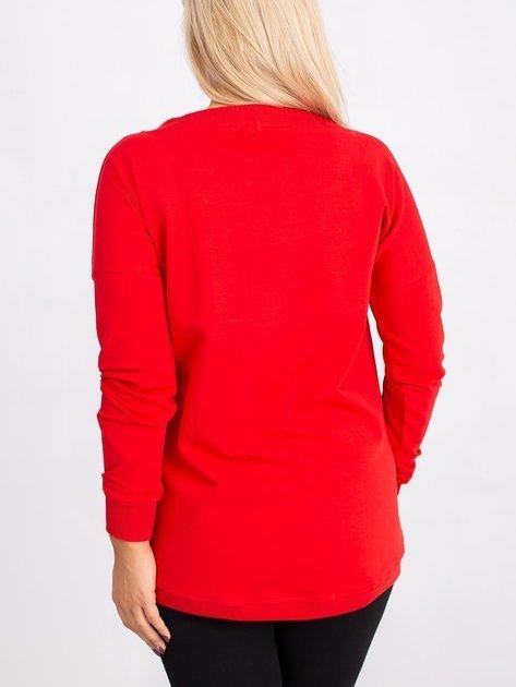Czerwona bluza plus size Twinkle                              zdj.                              2