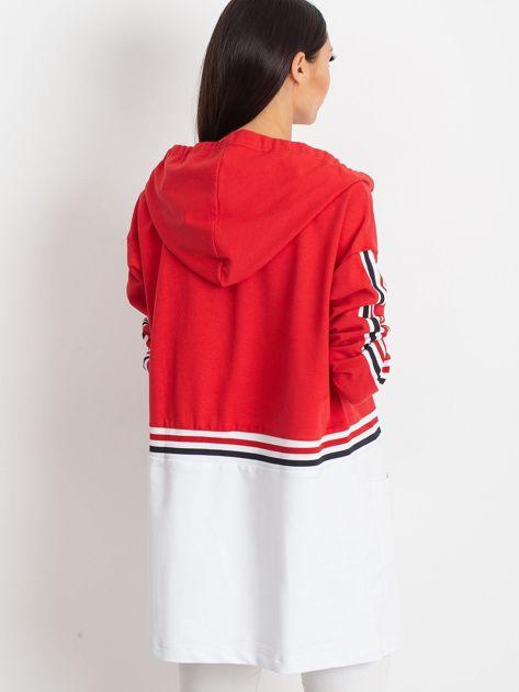 Czerwona bluza two tone                              zdj.                              2