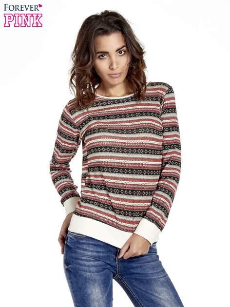 Czerwona bluza w azteckie wzory                                  zdj.                                  1