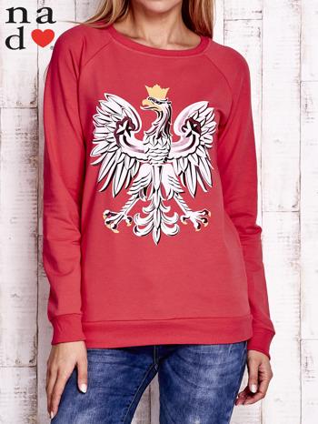 Czerwona bluza z godłem                                  zdj.                                  1