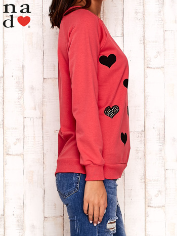 Czerwona bluza z serduszkami                                  zdj.                                  3