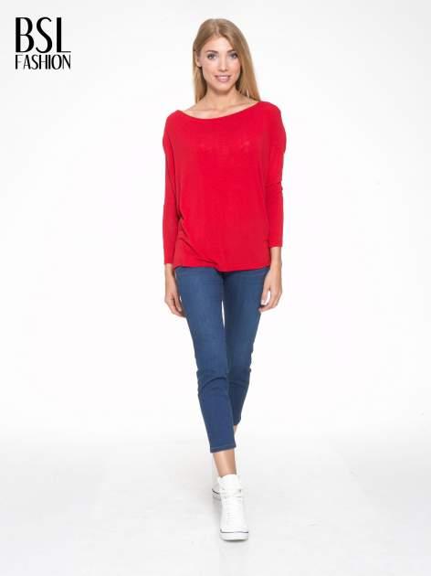 Czerwona bluzka z dekoltem na plecach                                  zdj.                                  5