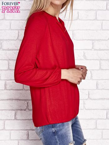 Czerwona bluzka ze ściągaczem na dole                                  zdj.                                  3