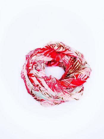 Czerwona chusta we wzór palm                                  zdj.                                  2