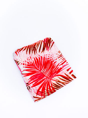 Czerwona chusta we wzór palm                                  zdj.                                  3