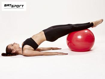 Czerwona duża piłka fitness                                   zdj.                                  8