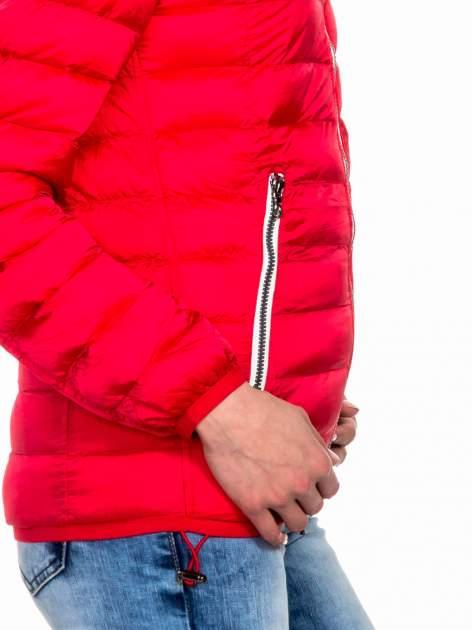 Czerwona dwustronna lekka kurtka puchowa                                  zdj.                                  8