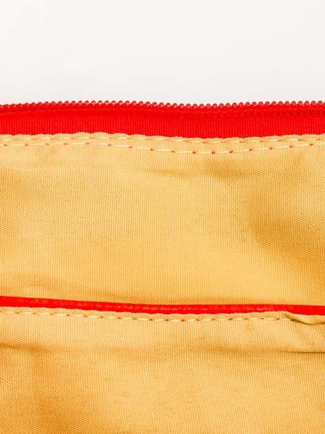 Czerwona kopertówka z dżetami motyw ust                                  zdj.                                  8