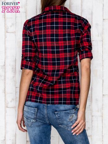 Czerwona koszula w kratkę                                  zdj.                                  4