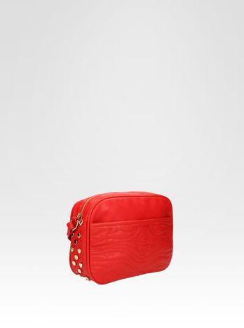 Czerwona mała torebka listonoszka z dżetami                                  zdj.                                  2
