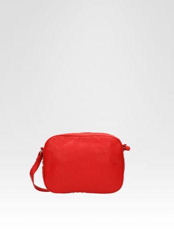 Czerwona mała torebka listonoszka z dżetami                                  zdj.                                  5