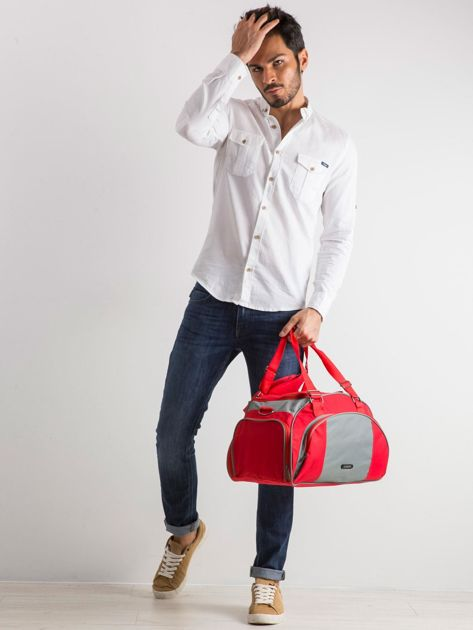 Czerwona męska torba                              zdj.                              5