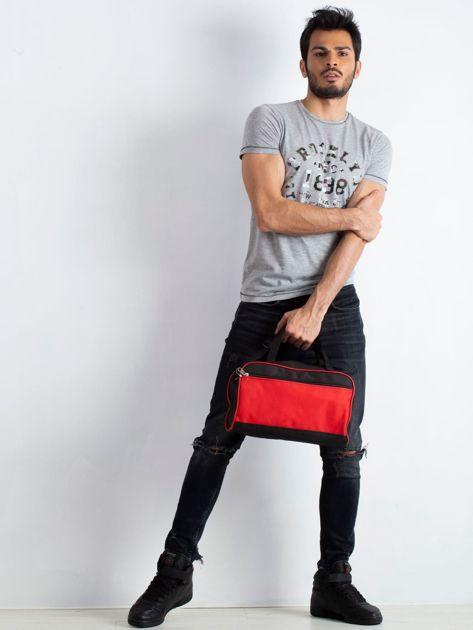 Czerwona męska torba na ramię                              zdj.                              4