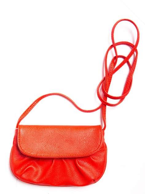Czerwona mini torebka kopertówka z paskiem                                  zdj.                                  3