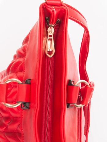 Czerwona pikowana torba na ramię                                  zdj.                                  8