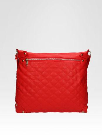 Czerwona pikowana torebka na ramię                                  zdj.                                  1