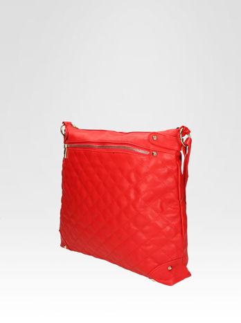 Czerwona pikowana torebka na ramię                                  zdj.                                  3