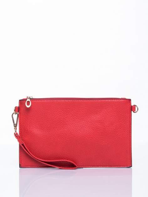 Czerwona prosta przewieszana torebka z uchwytem                                  zdj.                                  2
