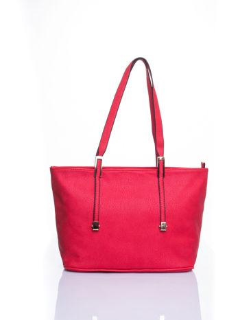 Czerwona prosta torba shopper bag                                  zdj.                                  1