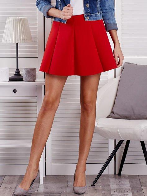 Czerwona rozkloszowana spódnica damska                                  zdj.                                  1