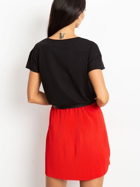 Czerwona spódnica Delta                              zdj.                              2