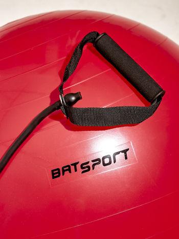 Czerwona średnia piłka fitness z ekspanderami                                  zdj.                                  7