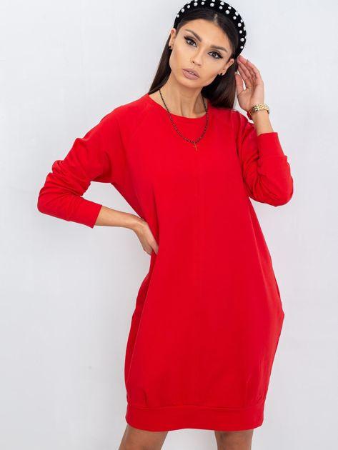 Czerwona sukienka Cristine                              zdj.                              6
