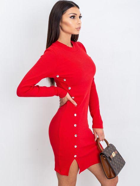 Czerwona sukienka Fabulous                              zdj.                              3