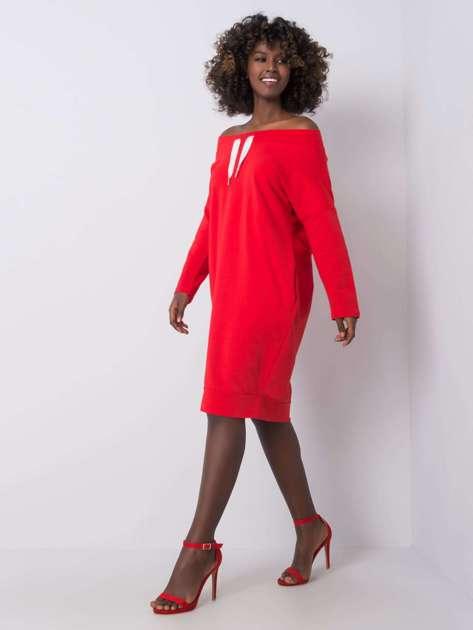 Czerwona sukienka Raphaelle