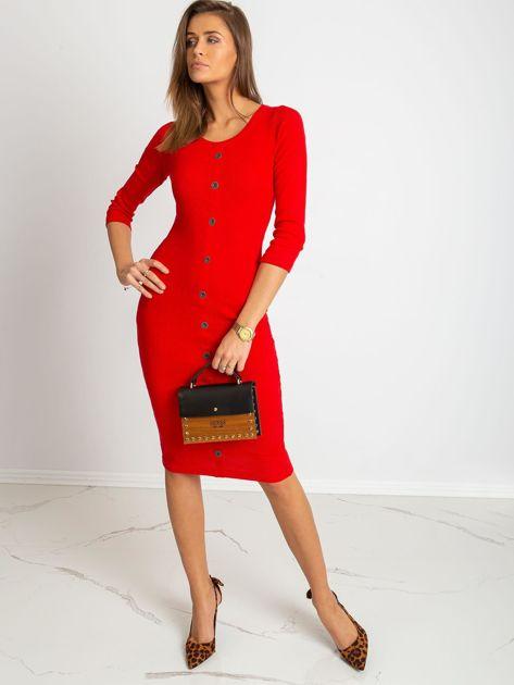 Czerwona sukienka Sting                              zdj.                              4