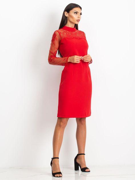 Czerwona sukienka Time                              zdj.                              4