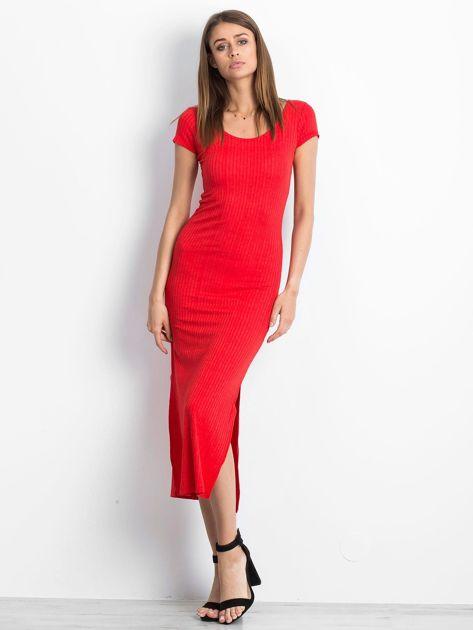 Czerwona sukienka Touching                              zdj.                              1