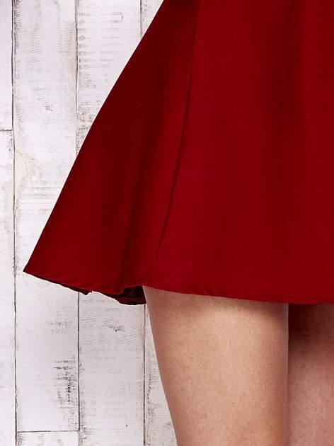 Czerwona sukienka z suwakiem na plecach                                  zdj.                                  6